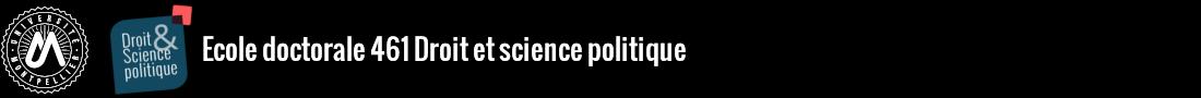 Ecole doctorale droit et science politique Logo